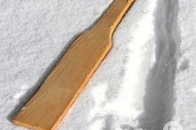 Wooden stir paddles
